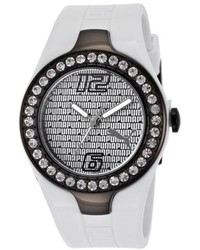 Puma Crystal White Rubber Two Tone Dial