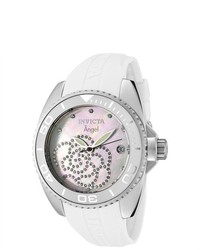 Invicta angel white rubber watch medium 290616