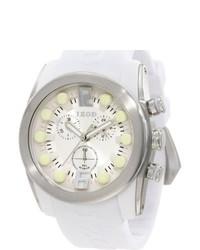 Izod White Monochromatic Rubber Quartz Watch