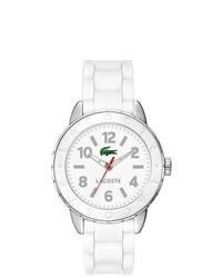 Lacoste White Rio Rubber Band Watch 2000689