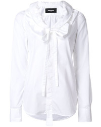 Dsquared2 Ruffle And Bow Collar Blouse