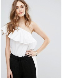 Warehouse Ruffle One Shoulder Top