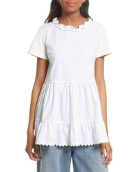 MM6 MAISON MARGIELA Tiered Ruffle Knit Top