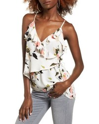 Wrap front ruffle tank medium 3694996