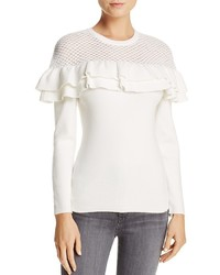 Lucy Paris Alexa Ruffle Sweater 100%