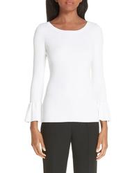 Michael Kors Ruffle Cuff Ribbed Sweater