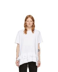 Alexander McQueen White Ruffle T Shirt