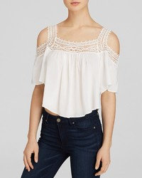 Lush Top Lace Off The Shoulder Crop