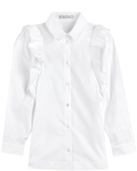 Cotton shirt with ruffles medium 374457