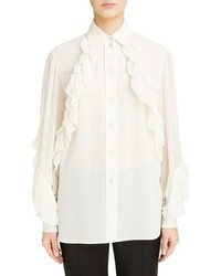 Givenchy Pleated Ruffle Tte Blouse