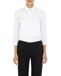 Nina Ricci Poplin Ruffle Shirt White
