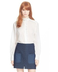 See by Chloe See By Chlo Ruffle Front Cotton Shirt