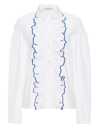 Vivetta Manzoni Cotton Long Sleeved Shirt With Face Detail