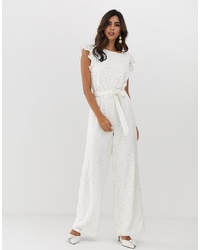 Vila Lace Angel Sleeve Jumpsuit