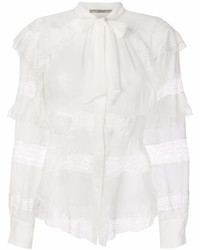 Ermanno Scervino Lace Insert Long Sleeve Blouse