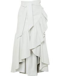 Rodarte Ruffled Leather Skirt