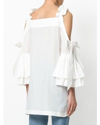 Teija Cold Shoulder Ruffled Blouse