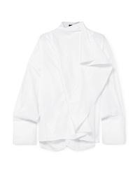 Ellery Richter Convertible Draped Cotton Poplin Shirt