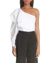 Stella McCartney Ruffle One Shoulder Blouse