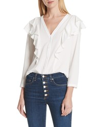 Veronica Beard Ruffle Shoulder Blouse