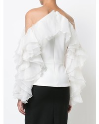 Marchesa Ruffled Blouse