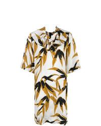 Marni Swash Print Ruffle Dress