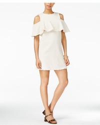 J.o.a. Ruffled Cold Shoulder Dress