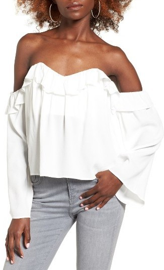 01702ef7aa0 ... Nordstrom › White Ruffle Off Shoulder Tops 4si3nna Ruffle Off The  Shoulder Blouse ...