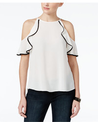 Amy Byer Bcx Juniors Ruffled Off The Shoulder Top