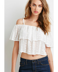 eccd419cc2c Women's White Off Shoulder Tops by Forever 21 | Women's Fashion ...