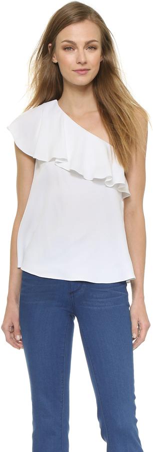 979e8675b3a368 Rachel Zoe Leena One Shoulder Ruffle Top, $265   shopbop.com ...