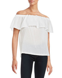 French Connection Off The Shoulder Flutter Top