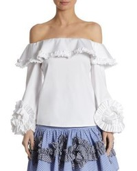 Alexis Regine Ruffle Off The Shoulder Top