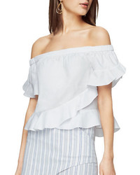 BCBGMAXAZRIA Ruffled Off The Shoulder Blouse