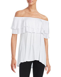 Context Ruffled Off The Shoulder Top