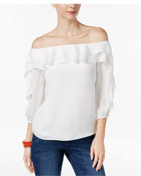 INC International Concepts Ruffled Off The Shoulder Top Only At Macys