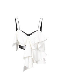 Proenza Schouler Sleeveless Off Shoulder Ruffle Top