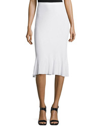 Theory Jurilo Prosecco Ribbed Knit Pencil Skirt