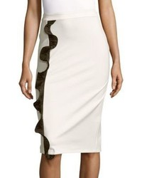 Opening Ceremony Ruffle Pencil Skirt