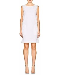 Nina Ricci Cutout Cotton Poplin Shift Dress