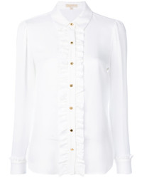 MICHAEL Michael Kors Michl Michl Kors Ruffled Long Sleeved Blouse