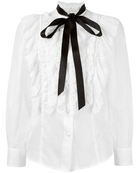 Marc Jacobs Ruffled Sheer Blouse