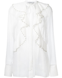 Givenchy Pearl Ruffled Blouse