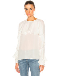 Veronica Beard Mia Ruffle Blouse Top
