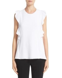 Carven Ruffle Trim Sleeveless Top