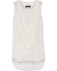 Isabel Marant Russel Ruffled Silk Chiffon Top