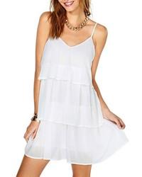 ChicNova Flouncing Hem White Dress