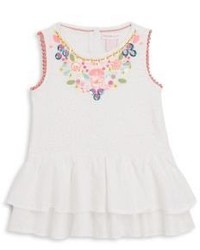 Design History Toddlers Little Girls Embellished Tunic Tank