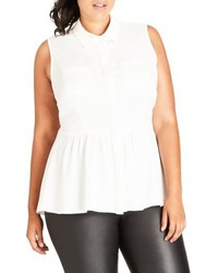 Plus size highlow ruffle tank medium 4913939