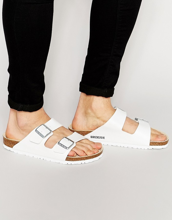32993de7ca344d ... Birkenstock Arizona Sandals In White ...
